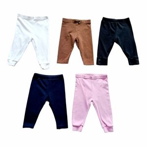 Lot of Baby Girl Leggings Bottoms Size 6-12 months